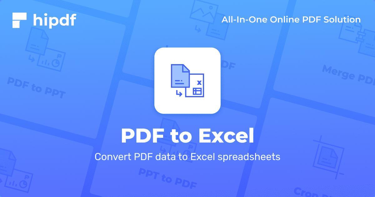 Konverter PDF ke Excel - 100% gratis - Hipdf