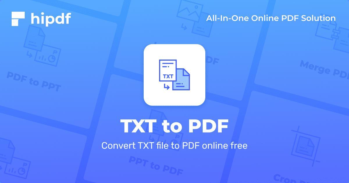 como converter um txt em pdf